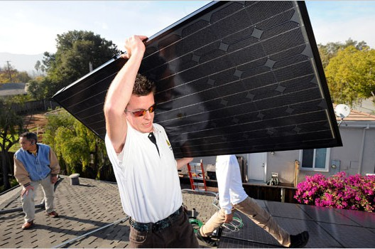 Up on the Roof, New Jobs in Solar Power, Julie Weed