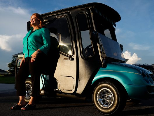 'Kind of Blingy': The Tricked-Out Golf Carts of the Villages, Fla., Julie Weed